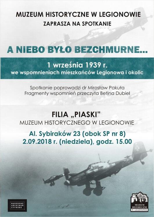 1 września 1939 r. we wspomnieniach mieszkańców Legionowa i okolic - plakat